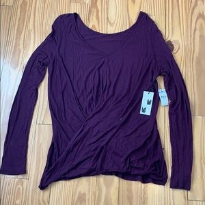 NWT Express Purple Two Ways Surplice Top